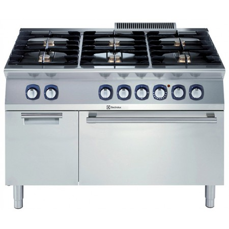 6-BURNER GAS RANGE+EL.OVEN+CUPB.1200MM